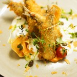 Le Bistro Esplanade, menu ljeto 2016. - Pržene sardine, pjena od kapara i maslinovog ulja, pire od batata
